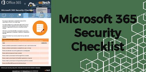 Microsoft 365 Checklist