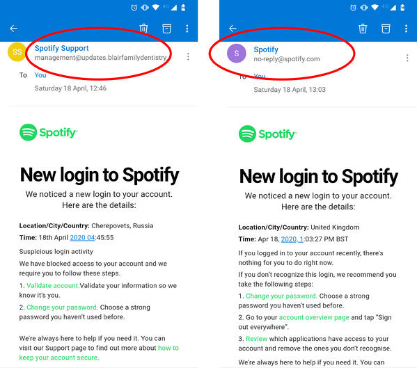 Whaling-Phishing-Spotify-email