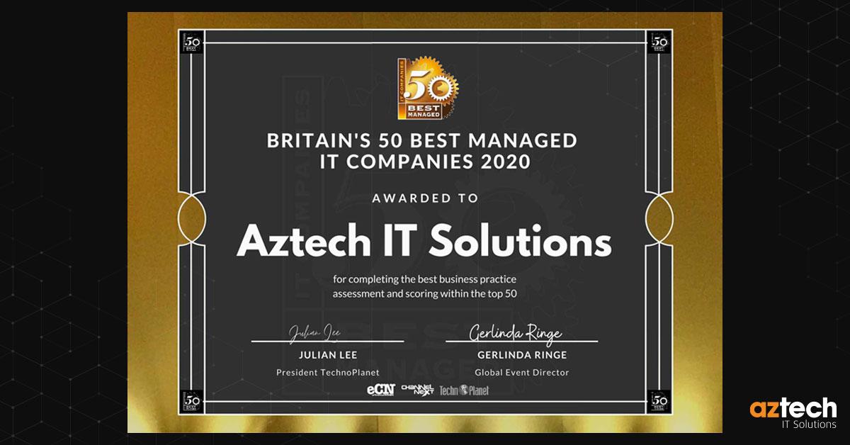 AZTech IT Solutions 50 Best Managed IT Companies 2020